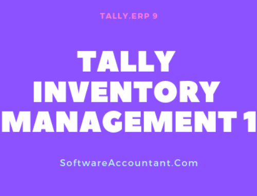 How to Maintain inventory in tally ERP 9 (Part I): Stock Groups