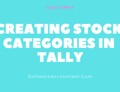 Tally Inventory Management Part II: Stock Categories