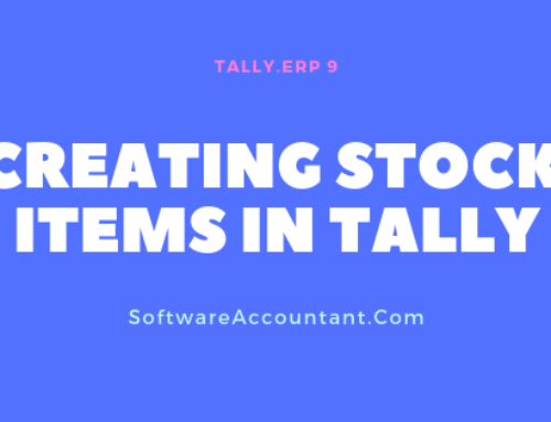 Stock Items in Tally ERP 9 – How to Create or Alter