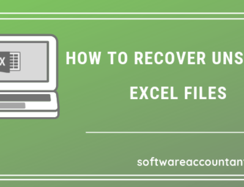 How to recover unsaved Excel file