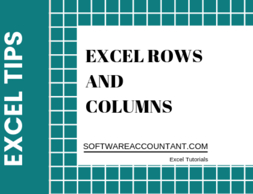 Tips about Excel Rows and Columns