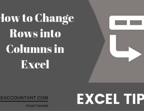 Excel rows to columns: How to Transpose