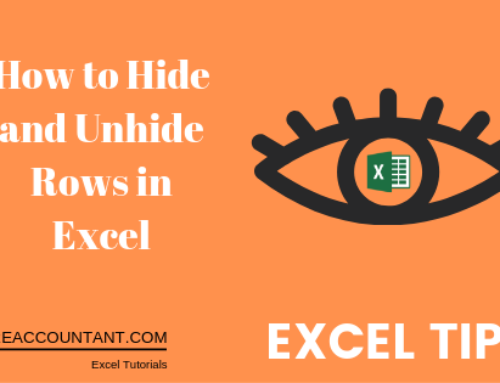 How to hide and unhide rows in excel