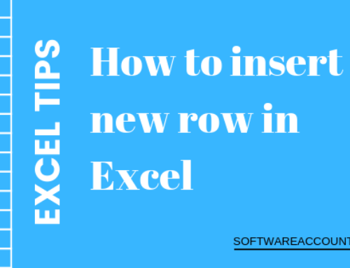 How to insert multiple rows in Excel