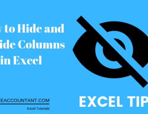 How to hide and unhide columns in excel