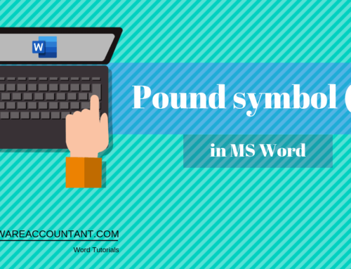 How to type a Pound symbol (£) in word (with shortcut)