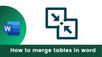 Merge tables in word