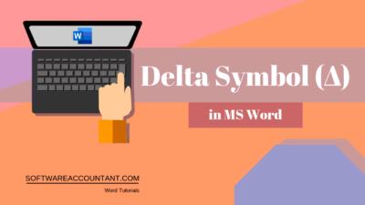 Delta Symbol in Word