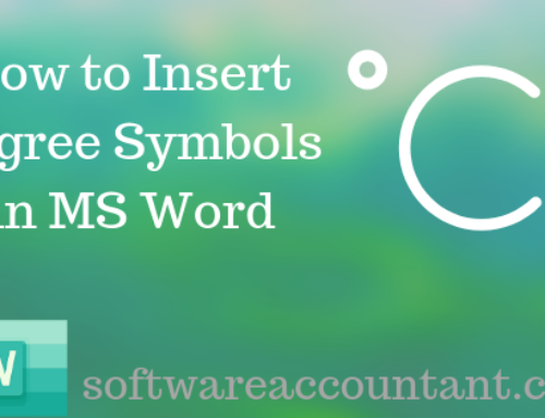 How to type degree symbol [°] in word (+ shortcut)