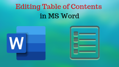 How to Edit Table of Content in Word