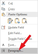 Remove leading dots in Table of Contnet in Word