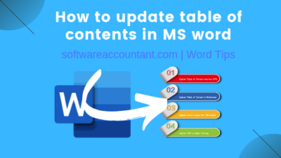 How to update Table of Content in Word