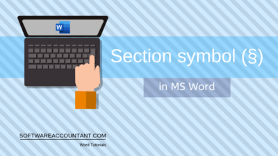 Section-Symbol in word