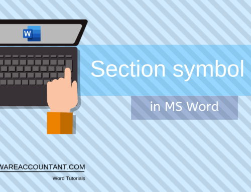 5 ways to insert the Section Symbol (§) in Word (or Excel)