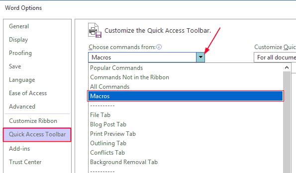 Delete pages in Word