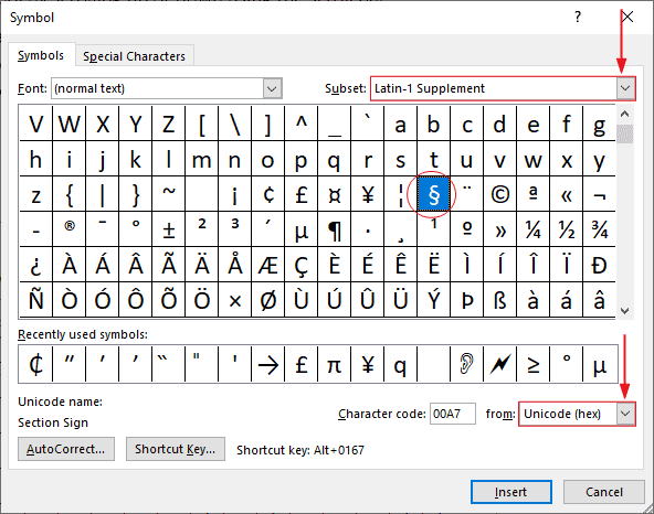 5 ways to insert the Section Symbol (§) in Word (or Excel ...