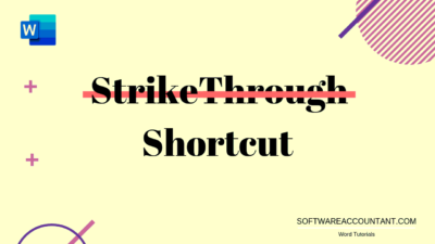 strikethrough shortcut in Word