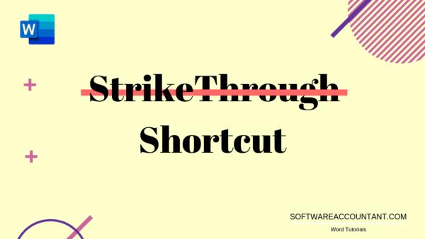 strikethrough shortcut in Word