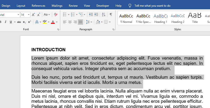 highlight the section you wish to single space in your Word document