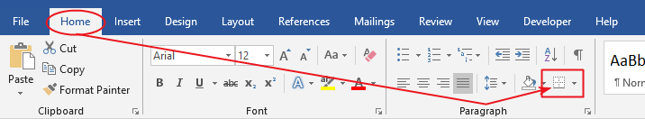 How to inser a line in Word