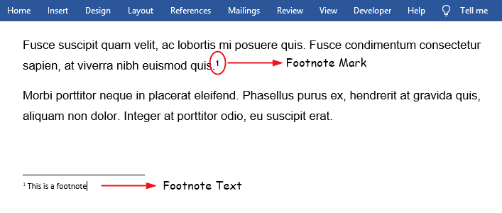 How to add a footnote in Word