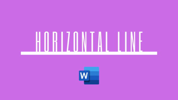 how to insert a horizontal line in word