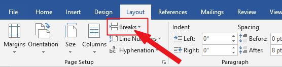 Click on Break