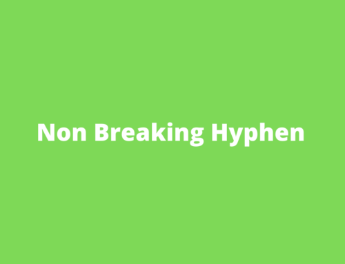 Inserting a Non-breaking hyphen in Word – Shortcut