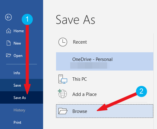 Click on Save As button