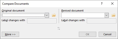 Compare Documents Dialog
