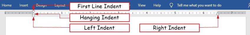 make indentation in Word