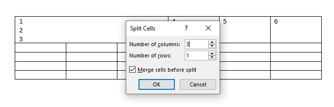 specify the number of rows and columns