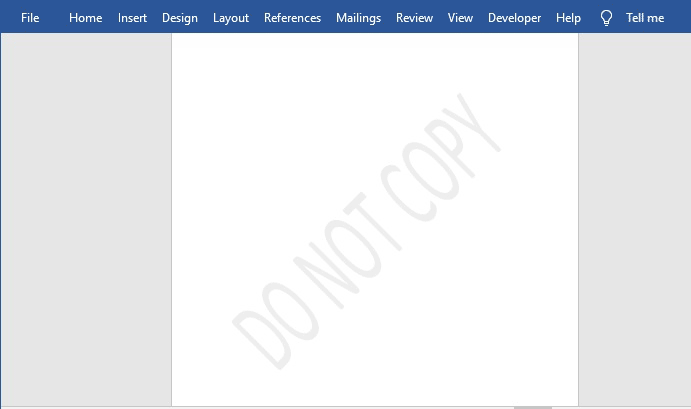Do not copy watermark in Word