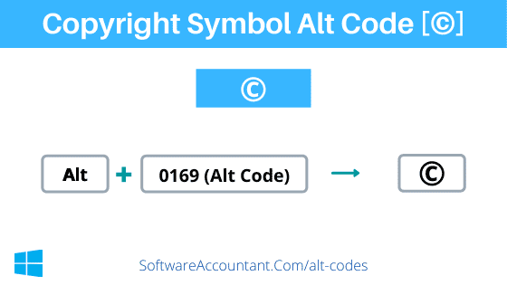 Copyright alt code