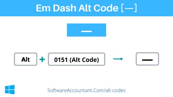 em dash alt code