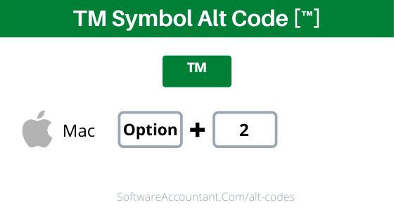 Tm Alt Code