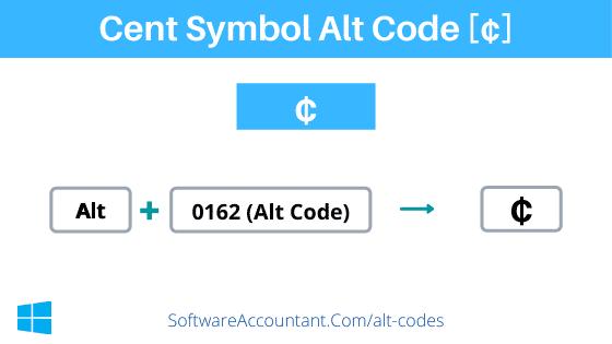 cent alt code