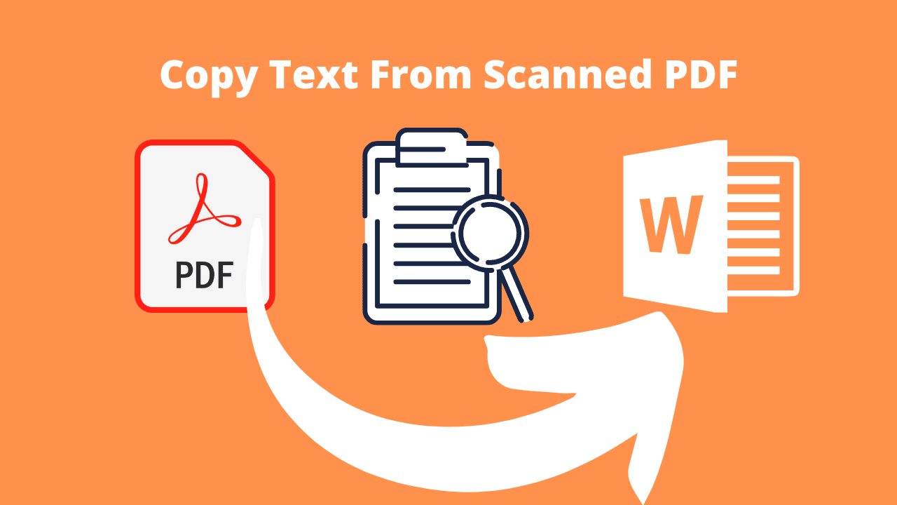 How to copy text from scanned pdf