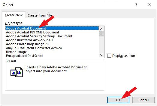 Specify the Document Type