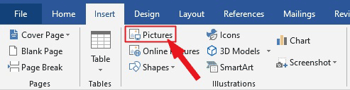 INSERT PICTURES IN WORD