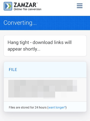 Waiting for file conversion