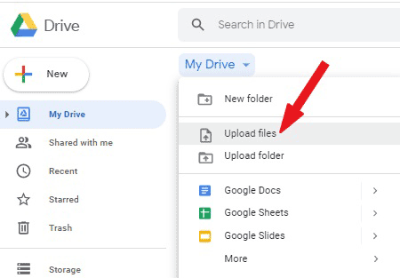Upload the pdf file you wish to insert into Word