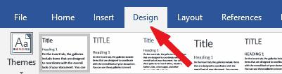 Microsoft Word's Design Tab