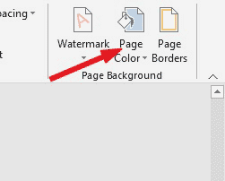 Go to Page Background > Page Color
