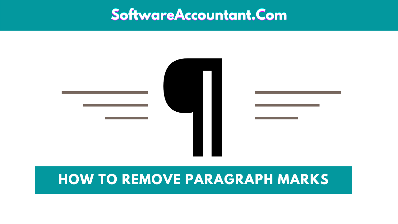 How to remove paragraph marks from MS Word