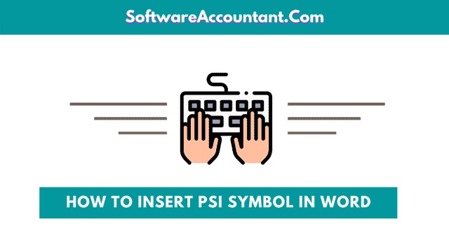 how to insert pSI Symbol in Word