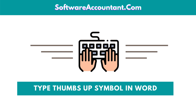 type or insert thumbs up symbol in Word