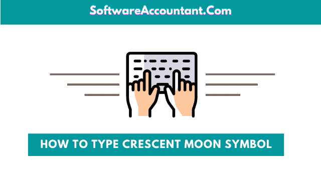 type crescent moon symbol